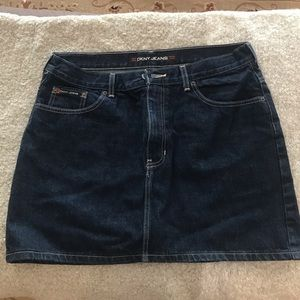 DKNY Denim mini skirt!